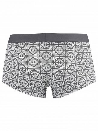 Emporio Armani Anthracite/White Patten Trunks
