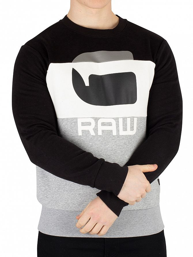 G-Star Grey Heather Graphic 17 Core Sweatshirt