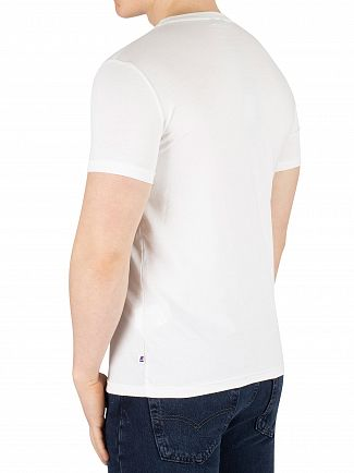 K-Way White Pete Macro Slim Fit T-Shirt