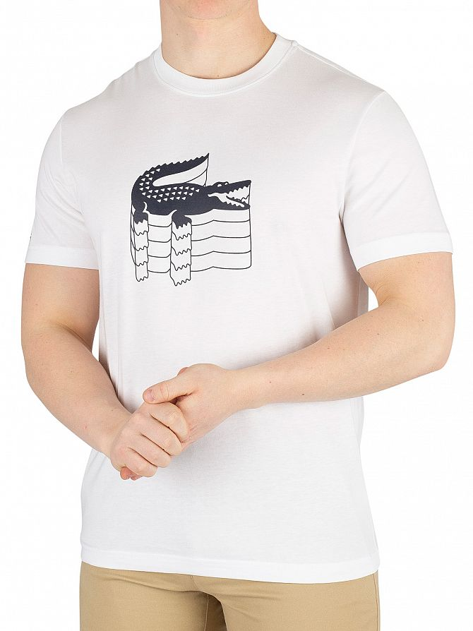 Lacoste White Graphic T-Shirt