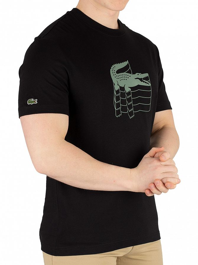 Lacoste Black Graphic T-Shirt