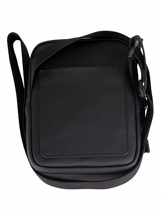 Lacoste Black S Flat Crossover Bag