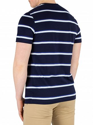 Lacoste Blue Marine Striped T-Shirt