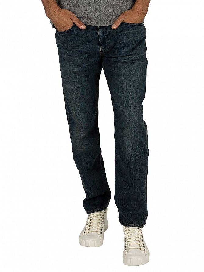 Levi's Dark Blue 502 Regular Taper Jeans