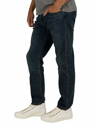 Levi's Dark Blue 502 Regular Taper Jeans