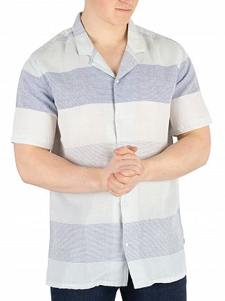 Levi's Boyer Marshmallow Stripe Cubano Shortsleeved Shirt