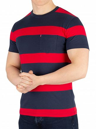 Levi's Boink Stripe Setin Sunset Pocket T-Shirt