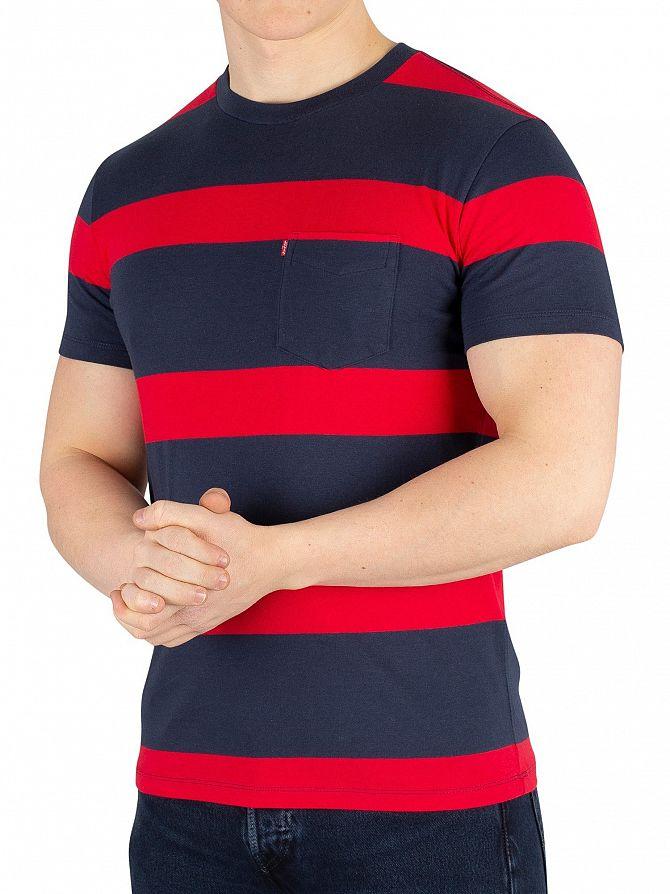 Levi's Boink Stripe Setin Sunset Pocket T-Shirt