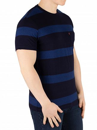 Levi's Boink Stripe Blue Setin Sunset Pocket T-Shirt