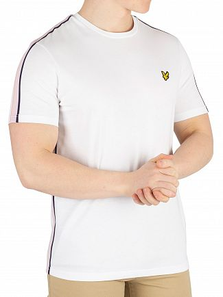 Lyle & Scott White Side Stripe T-Shirt