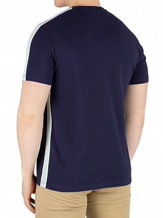 Lyle & Scott Navy Side Stripe T-Shirt