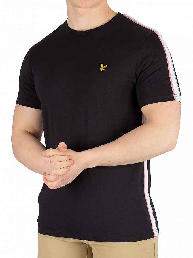 Lyle & Scott Black Side Stripe T-Shirt