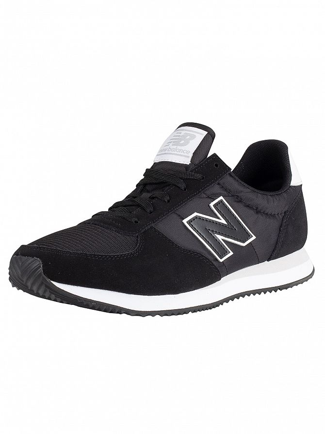 New Balance Black/White 220 Suede Trainers