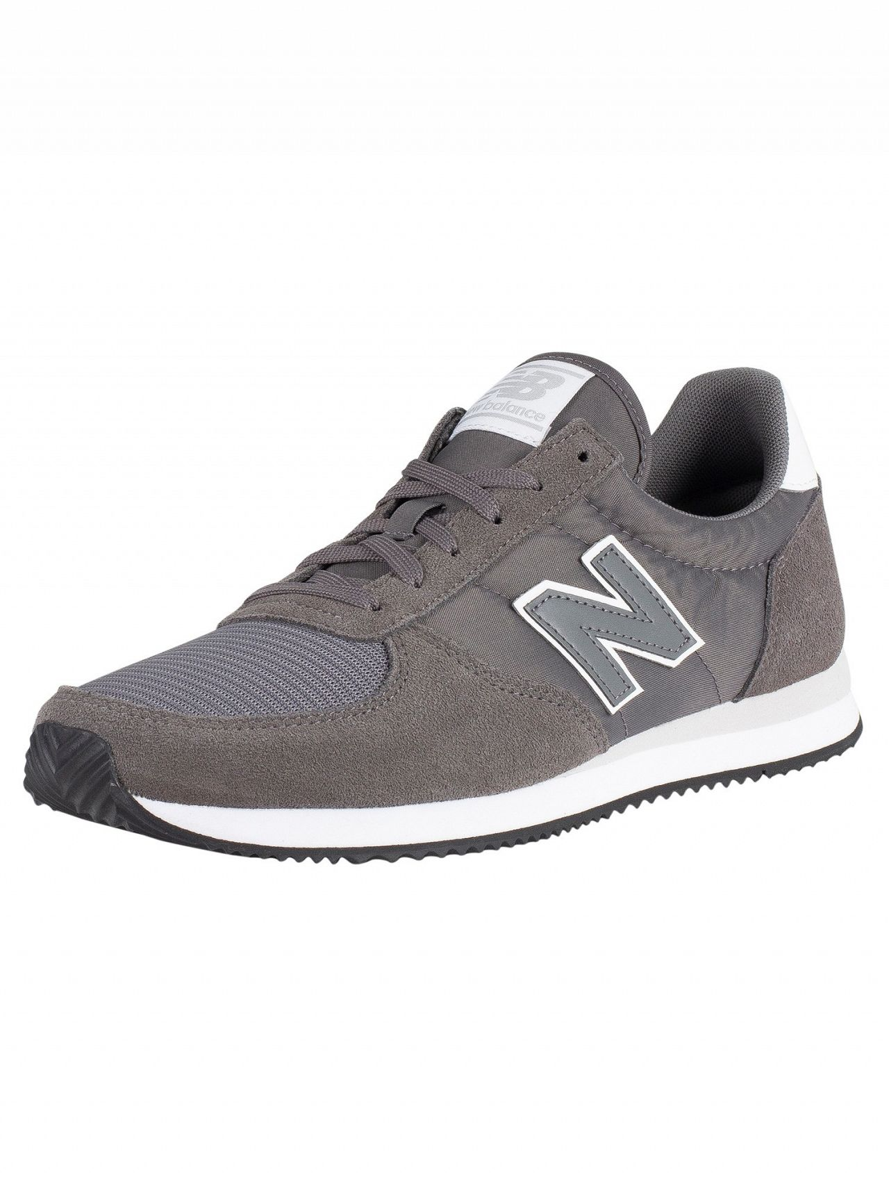 5ea3abb7eb New Balance Lead/White 220 Suede Trainers