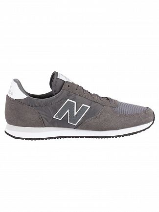 New Balance Lead/White 220 Suede Trainers