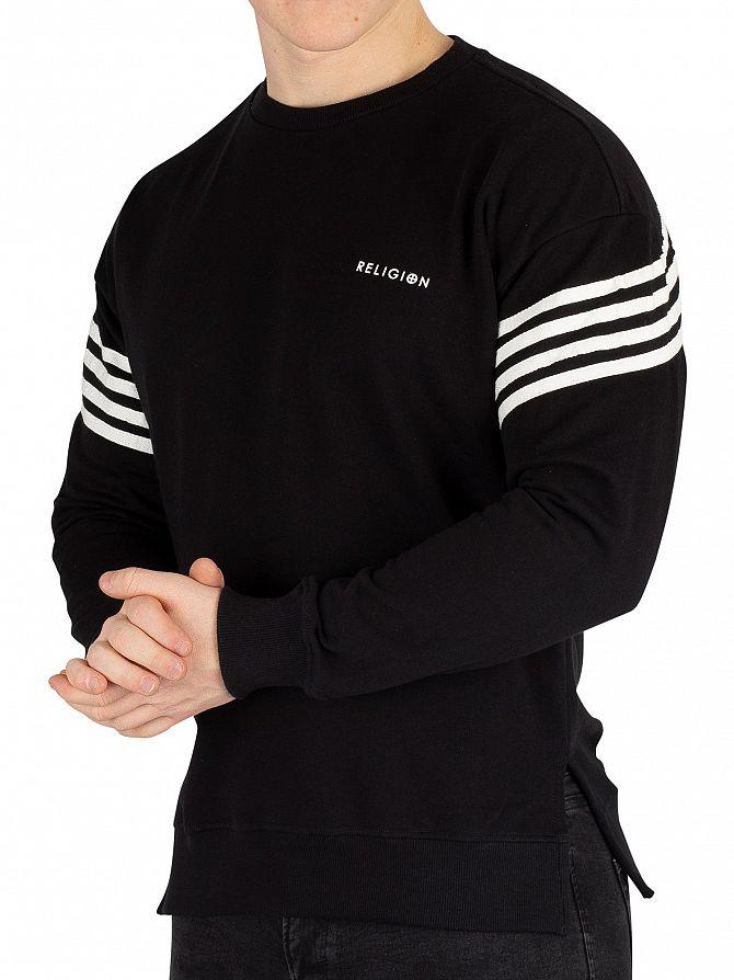 Religion Black/Broken White Bolt Sweatshirt