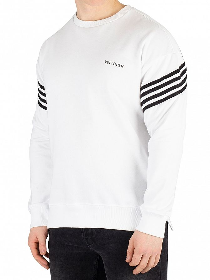 Religion White/Black Bolt Sweatshirt