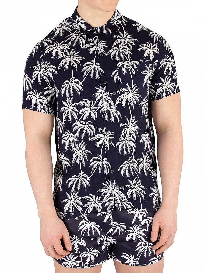 Religion Navy/White Chill Shortsleeved Pocket Shirt