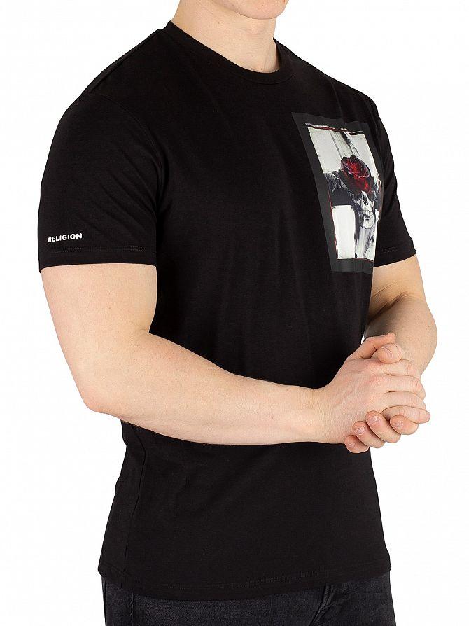 Religion Black Cross T-Shirt