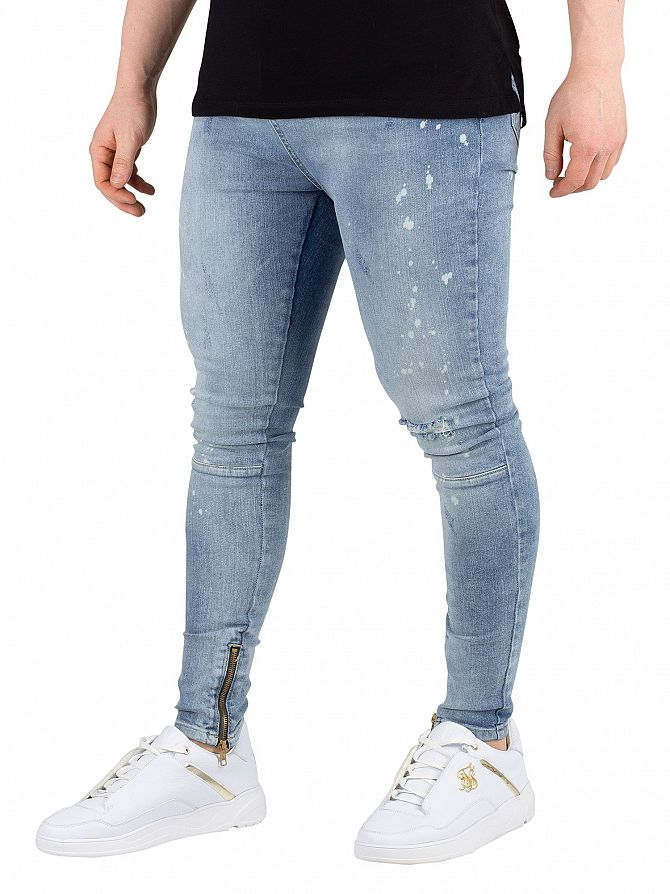 Religion Broken Blue Edge Jeans