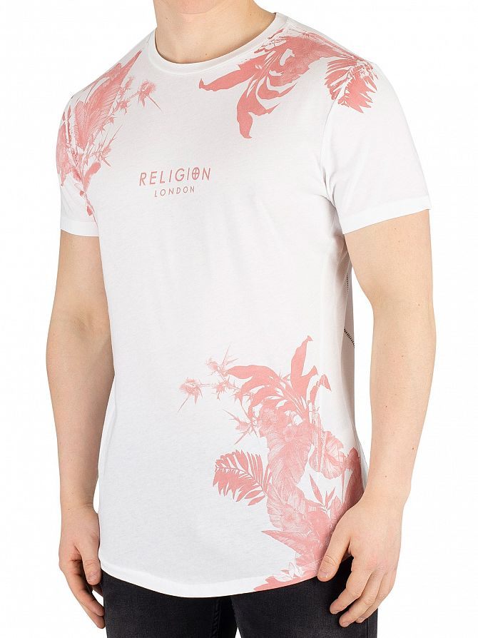 Religion Ashes Of Rose Hawaiian Curved Hem T-Shirt