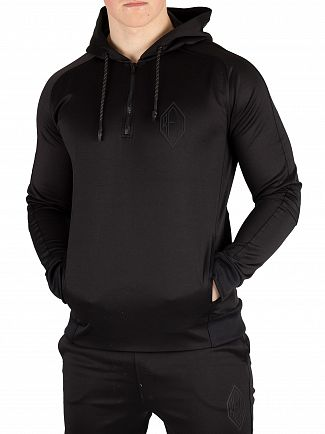 Religion Black Match 1/4 Zip Hoodie