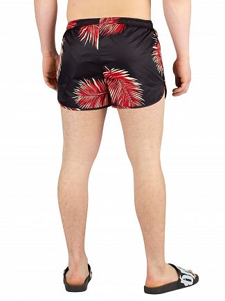 Religion Black/Red Reef Swimshorts