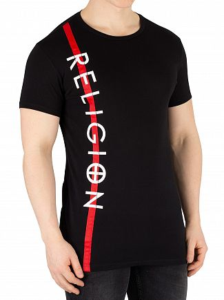 Religion Black Retro T-Shirt