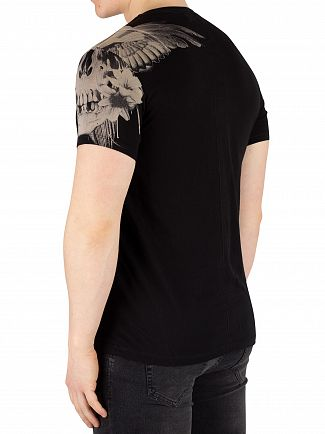 Religion Black Skull Wings T-Shirt