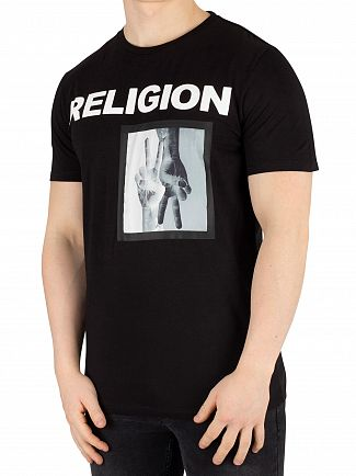 Religion Black Up Down T-Shirt