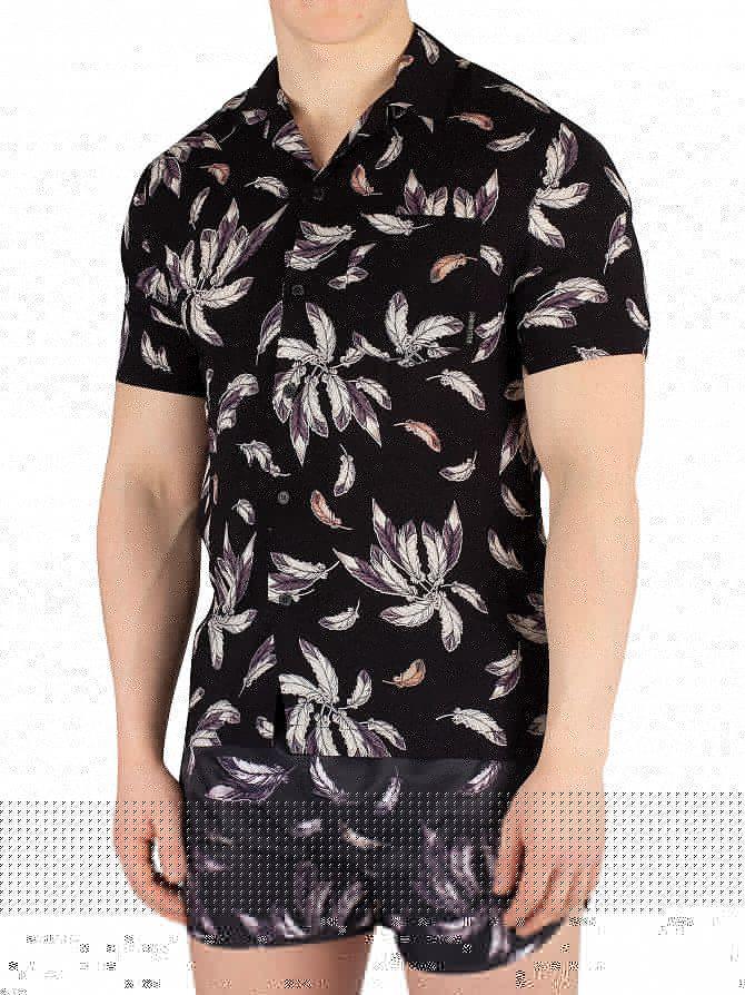 Religion Black/Tan Wing Shortsleeved Pocket Shirt
