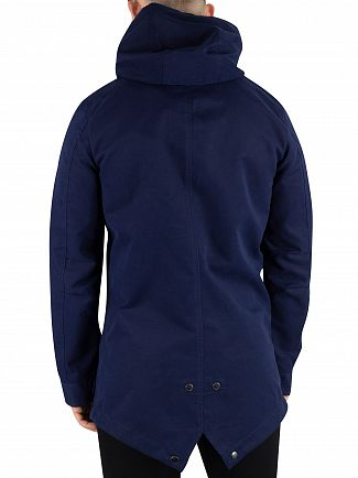 Scotch & Soda Navy Classic Parka Jacket