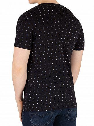 Scotch & Soda Black Crew Neck T-Shirt