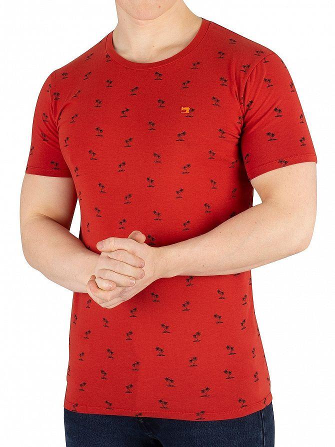 Scotch & Soda Red Patten T-Shirt