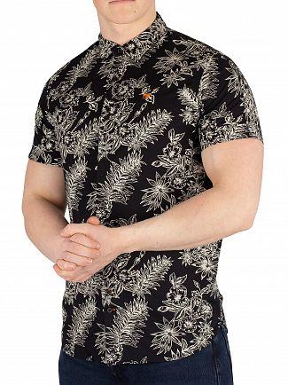 Scotch & Soda Black Printed Hawaii Shortsleeved Shirt