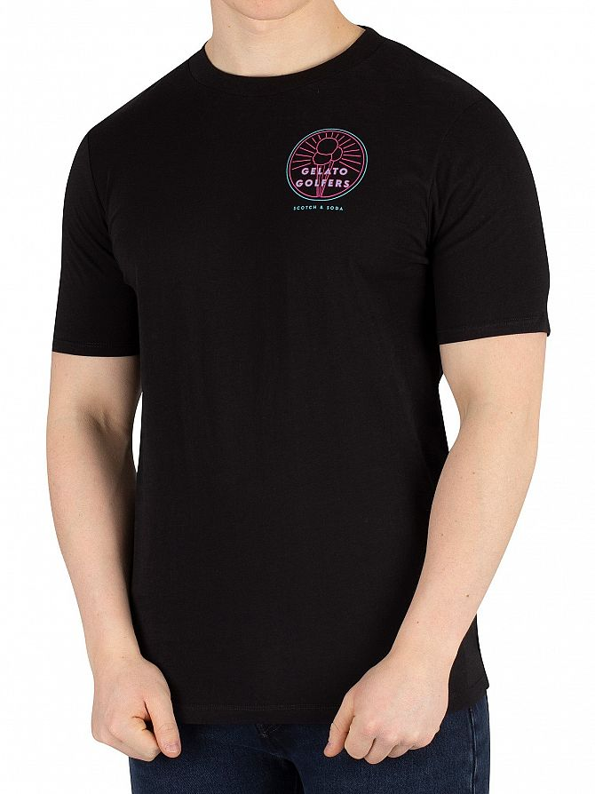 Scotch & Soda Black Streetwear Inspired T-Shirt