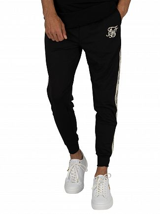 Sik Silk Black Cuffed Runner Joggers