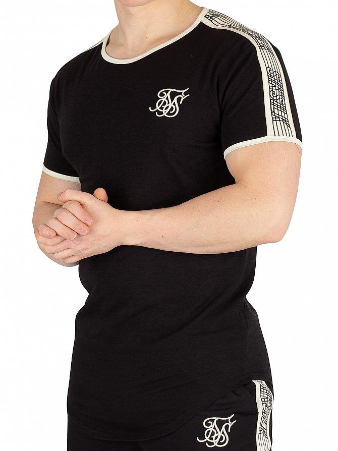Sik Silk Black Taped Runner T-Shirt