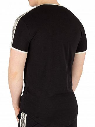 Sik Silk Black Taped Runner T-Shirt