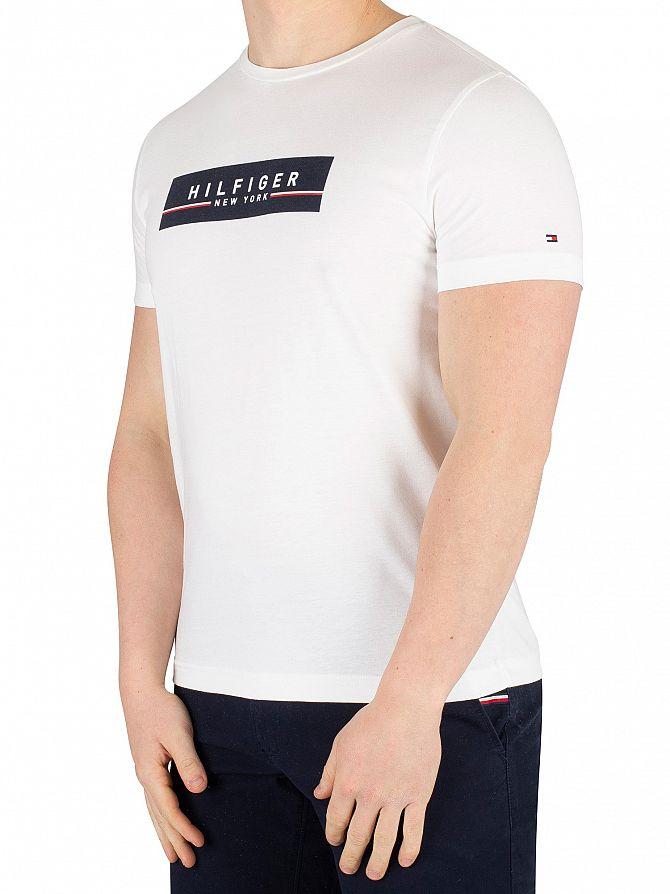 Tommy Hilfiger Bright White Box Print T-Shirt