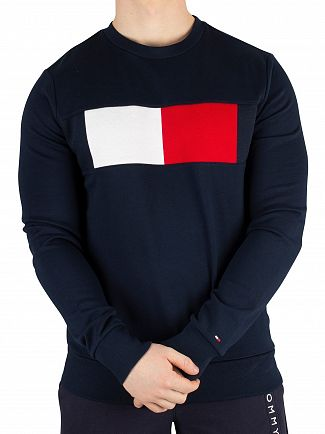 Tommy Hilfiger Sky Captain Flag Chest Logo Sweatshirt