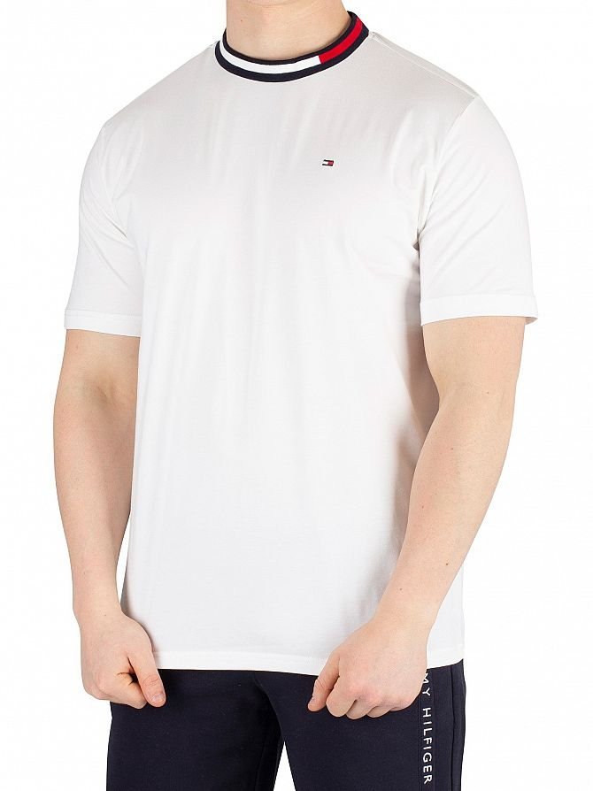 Tommy Hilfiger White Logo Collar T-Shirt