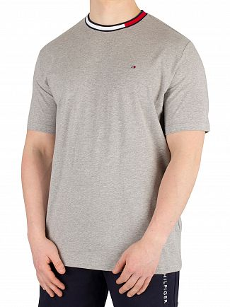 Tommy Hilfiger Grey Heather Logo Collar T-Shirt