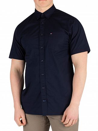 Tommy Hilfiger Sky Captain Stretch Poplin Shortsleeved Shirt