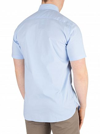 Tommy Hilfiger Light Blue Stretch Poplin Shortsleeved Shirt