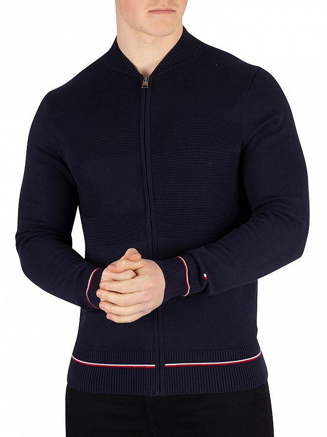 Tommy Hilfiger Sky Captain Structured Flag Baseball Sweatshirt