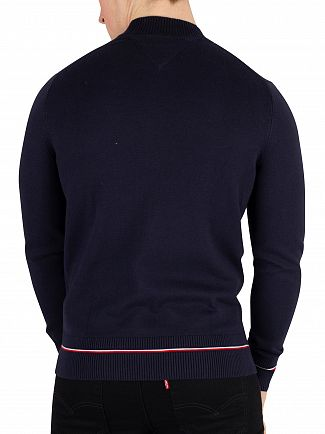 Tommy Hilfiger Sky Captain Structured Flag Baseball Sweatshirt