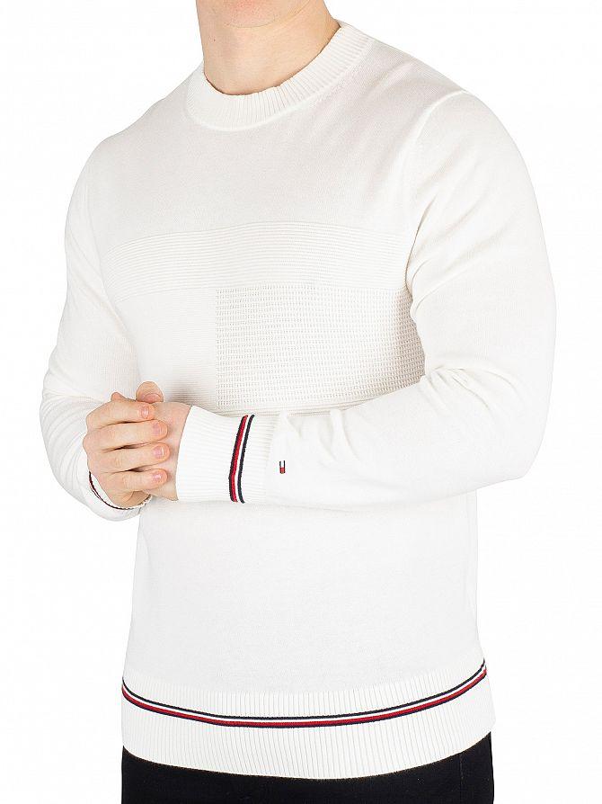 Tommy Hilfiger Snow White Structured Flag Sweatshirt