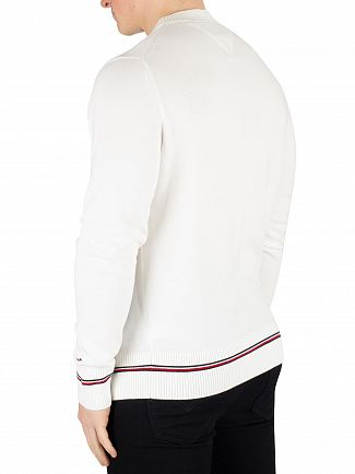 Tommy Hilfiger Snow White Structured Flag Sweatshirt