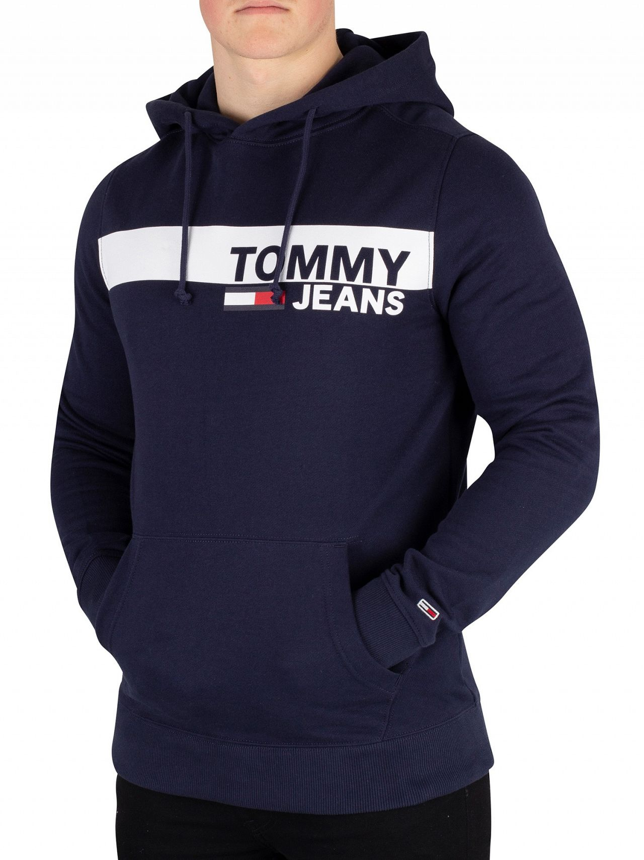 29e2c562 Tommy Jeans Black Iris Navy Essential Graphic Pullover Hoodie | Standout